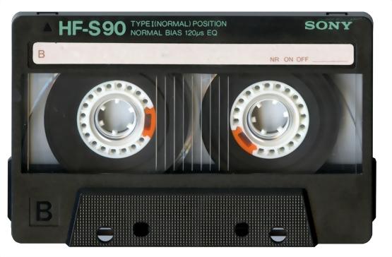 日本語の教材を作ってカセットテープに録音しました。